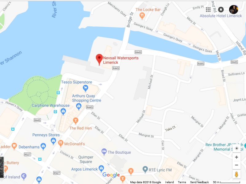 Nevsail Watersports Limerick, Our Location