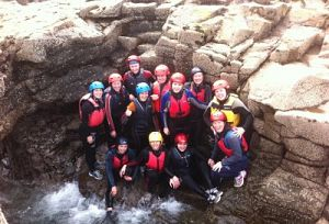 Things to do in Clare Group Hen Parties having lots of fun and adventures at our Clare Kayaking and Coasteering package