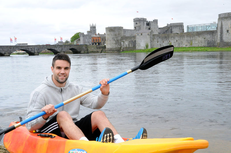 Conor Murray enjoying some kayaking watersports at Nevsail Adventure Centre