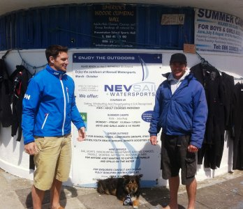Dave Wallace at Nevsail for extreme watersports activities in Kilkee Co Clare Ireland