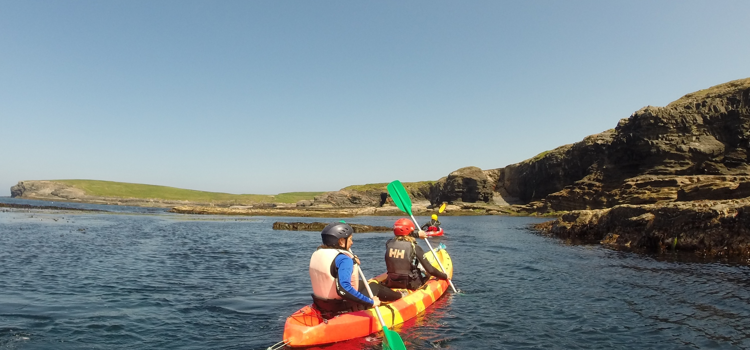 kayaking county Clare with Nevsail Watersports for Corporate events and sports and social group outings