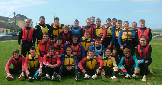 Munster U-20 squad pre-season team building session at Nevsail Limerick