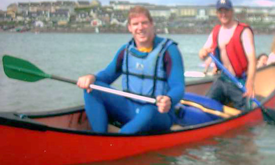 Paul O'Connell Kayaking at Nevsail Watersports and Rock Climbing Adventure Centre in Kilkee Co Clare