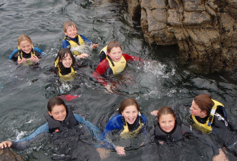 Lovely day for a swim on our kilkee School Tour Outing