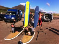 surfing and stand up paddle boarding around doonbeg, the loop head and co clare