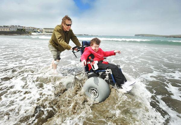 Beach Access for Wheelchair Users at nevsail watersports
