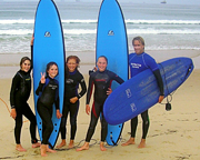 kids loving to surf with nevsail