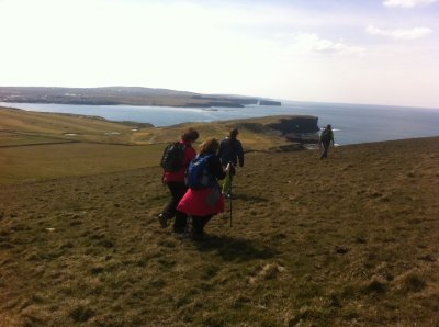 guided walking trails in Kilkee and the loophead with nevsail