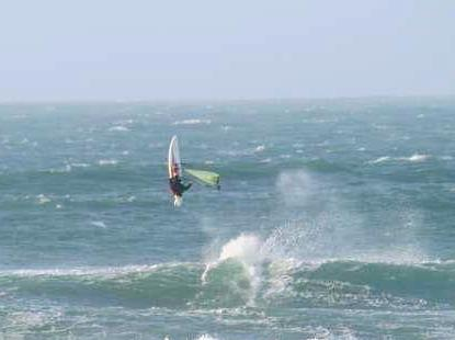 dave windsurfing with nevsail